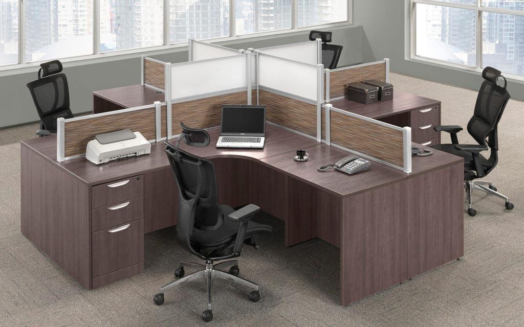 Borders Quad Office Desk Package